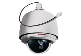 HD 1MP and 2MP IP PTZ Recessed Ceiling and Bracket Mount Domes